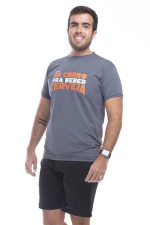 Camiseta Masculina Funfit - Só Corro Pra Beber Cer... - FUNFIT