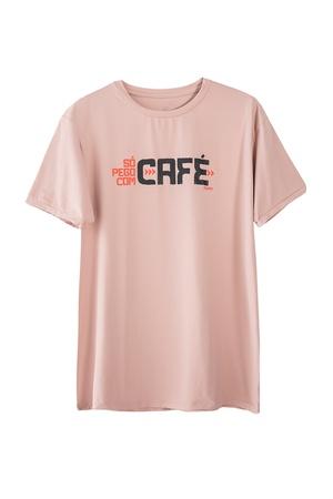 Camiseta Masculina Funfit - Só Pego Com Café Rosa ... - FUNFIT