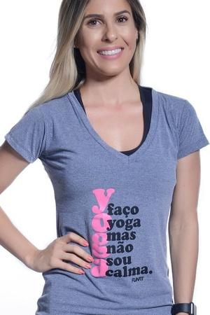 Camiseta Feminina Funfit - Faço Yoga Mas Não Sou C... - FUNFIT
