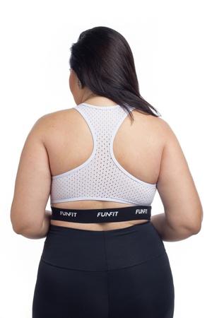 Top Feminino Funfit - Elástico Branco - 1670 - FUNFIT