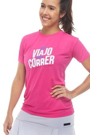 Camiseta Feminina Funfit - Só Viajo Pra Correr - 1... - FUNFIT