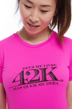 Camiseta Feminina Funfit - 42K Deus me livre mas q... - FUNFIT