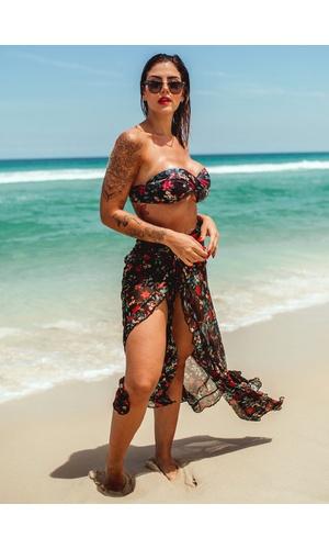 Saida de praia - saia longa com fenda Buzios - Poliana Finzetto