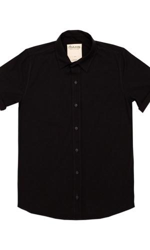 Camisa Visco Confort Preta - MAHS