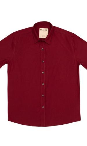 Camisa Visco Confort Vinho - MAHS
