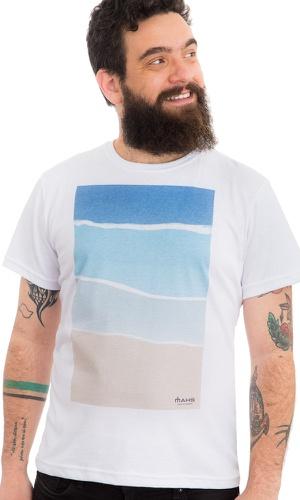 Camiseta Estampada Praia - MAHS