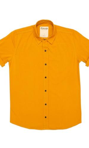Camisa Visco Confort Mostarda - MAHS