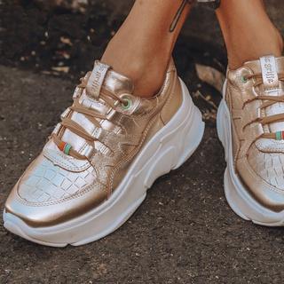Tênis Feminino De Couro Chunky Sneaker De Griffe G... - FRANCA GRIFFE
