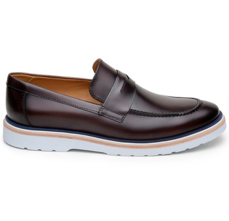 Sapato Casual Masculino Loafer CNS Wish 19 Vinho - CNS