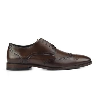 Sapato Derby Semi Brogue Masculino Marrom Monbran Dressy
