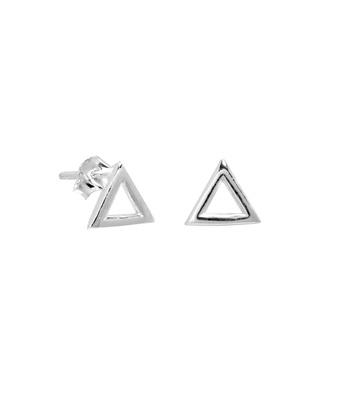 Brinco Triângulo Vazado Prata 925 - 1 PEÇA (Não é ... - MANTOAN LOJA