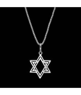 Colar Estrela De Davi Prata 925 - MANTOAN LOJA