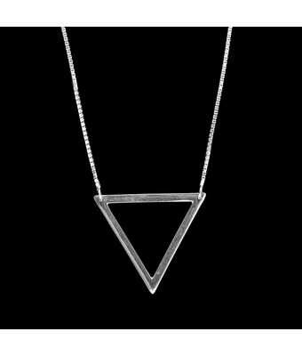 Colar Triângulo Equilátero Prata 925 - MANTOAN LOJA