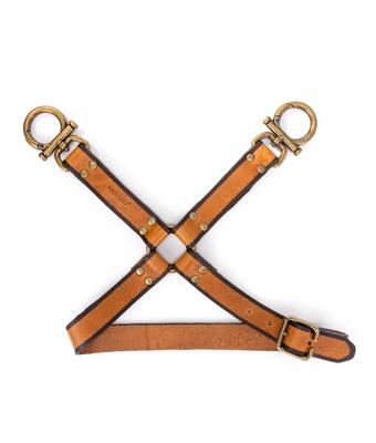 Harness De Perna Couro Cela Caramelo - MANTOAN LOJA
