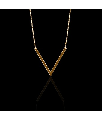 Colar Life V Ouro 20 milésimos - 60cm - MANTOAN LOJA