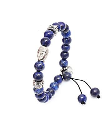 Pulseira Buda Mp639 Pedra Natural Lápis Lazuli - MANTOAN LOJA