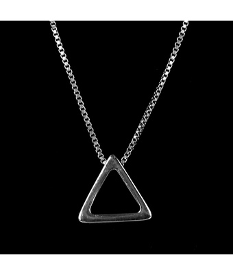 Colar Triângulo Tridimensional Semijoia RB - MANTOAN LOJA