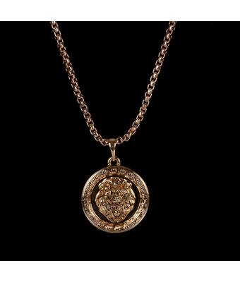 Colar Mandala Leão Dourado - MANTOAN LOJA