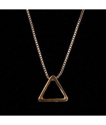Colar Masculino Triângulo Tridimensional Ouro - MANTOAN LOJA