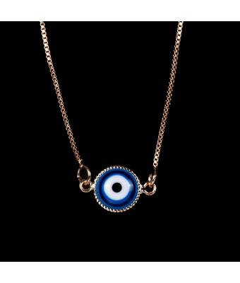 Escapulário Olho Grego Emoldurado Azul Turquesa Ou... - MANTOAN LOJA