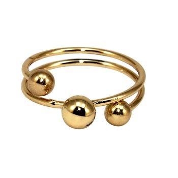 Anel Bolls Dourado *