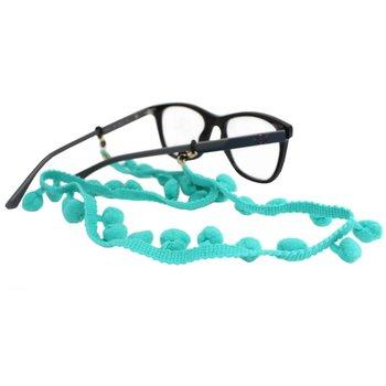 Cordão para Óculos Bolinhas Pompom Acqua