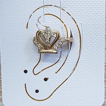 Piercing Fake Zircônia Coroa Dourado