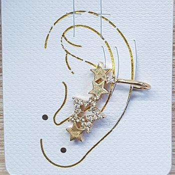Piercing Fake Zircônia Estrela Dourado