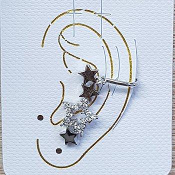 Piercing Fake Zircônia Estrela Prata