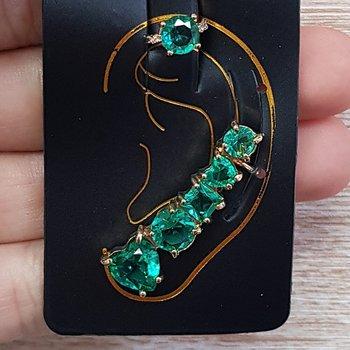 Kit De Brinco Ear Cuff e Piercing Fake Dourado Acq...