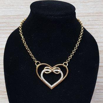 Colar Folheado Dourado Coração