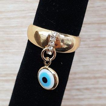 Anel Olho Grego Dourado