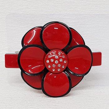 Presilha Flor Vermelho