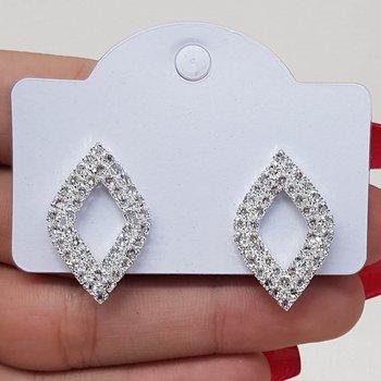 Brinco Ponteira Diamante Prata