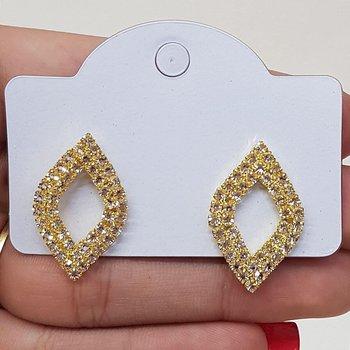 Brinco Ponteira Diamante Dourado