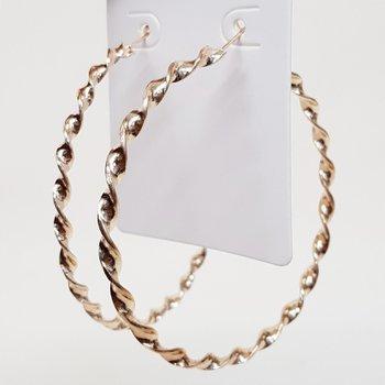 Argola Grande Espiral Dourada