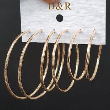 Kit De Argolas Dourado