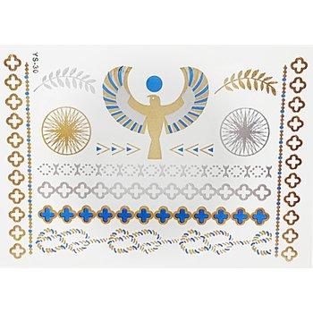 Tatuagem Metálica Flash Tattoo Egyptian Eagle