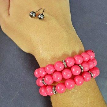 Kit De Pulseiras Pink