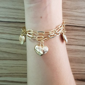 Pulseira Cartier Coração Dourado