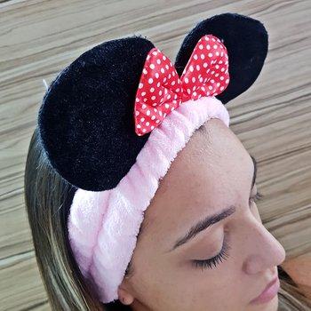 Faixa de Cabelo Para Aplicar Maquiagem Minnie Rosa...