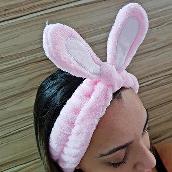 Faixa de Cabelo Para Aplicar Maquiagem Coelhinho R...