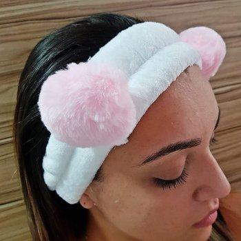 Faixa de Cabelo Para Aplicar Maquiagem Panda Rosa ...