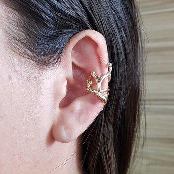 Brinco Ear Cuff Borboleta Dourado