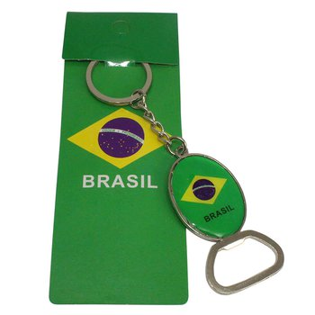 Chaveiro Abridor De Garrafa Bandeira Do Brasil