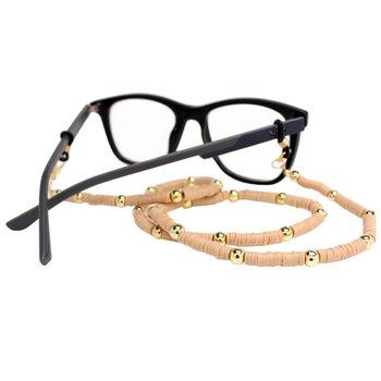 Cordão para Óculos Borrachinhas Bege
