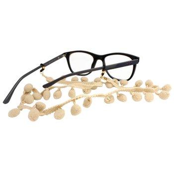 Cordão para Óculos Bolinhas Pompom Bege
