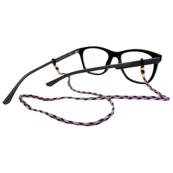 Cordão para Óculos Trancinha Bem Fina Laranja Roxo...