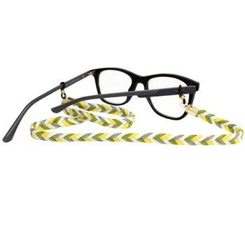 Cordão para Óculos Trancinha Amarelo Verde