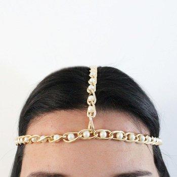 Headband Dara Pérola Dourado